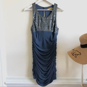 Alice & Olivia sequined rouched party dress